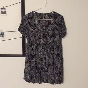 Free people smock babydoll dress xs